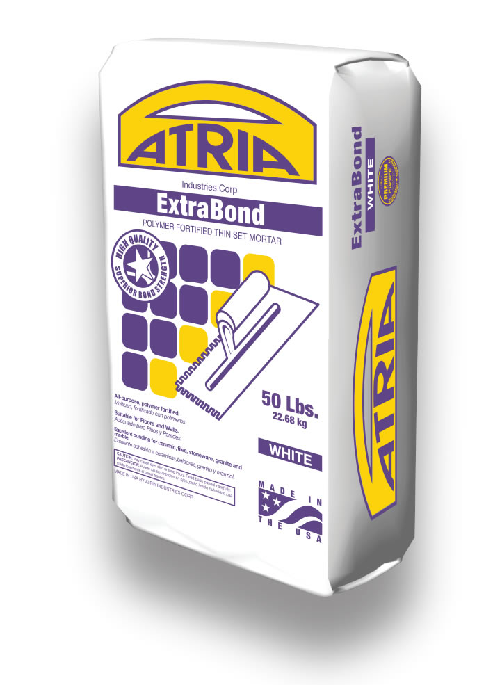 extrabond atria industries all purpose polymer fortified thin set mortar